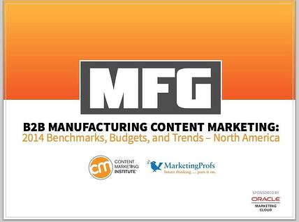 Manufacturing Content Marketing B2B research