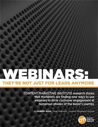 Adobe Content Marketing Institute report on webinars for B2B Marketing