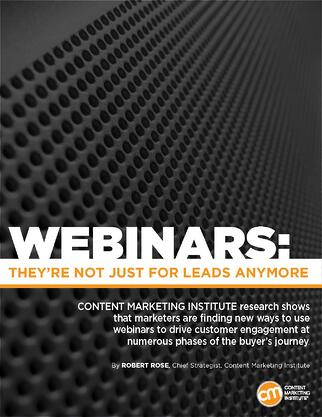 Adobe Content Marketing Institute report on webinars for B2B Marketing