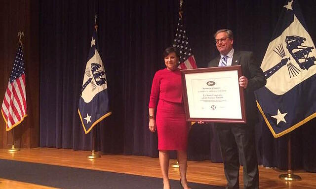 US_Secretary_of_Commerce_Penny_Pritzker_presents_Management_consultant_Ed_Marsh_receives_2016_Presidential_E_Award_for_Export_Excellence.jpg